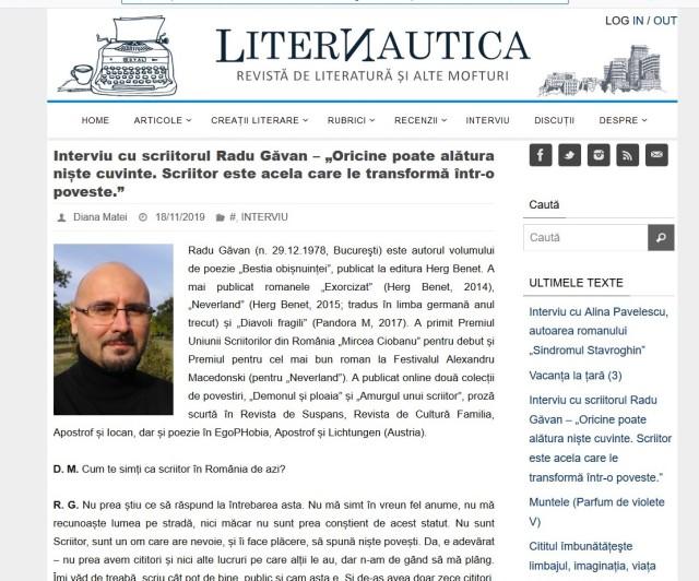 Interviu Liternautica